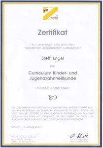 Urkunde Curriculum